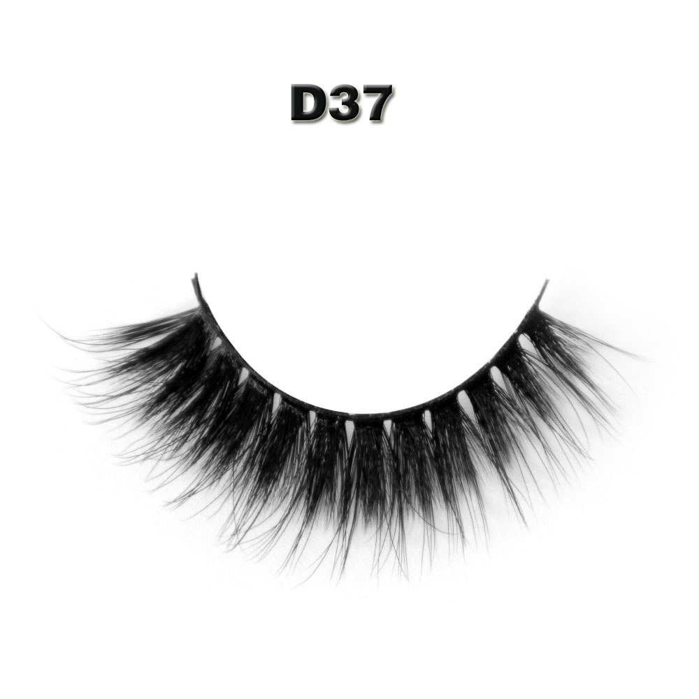 False eyelashes D37 Professional thick fake lashes makeup eyelashes extentions 1pair per pack with model show