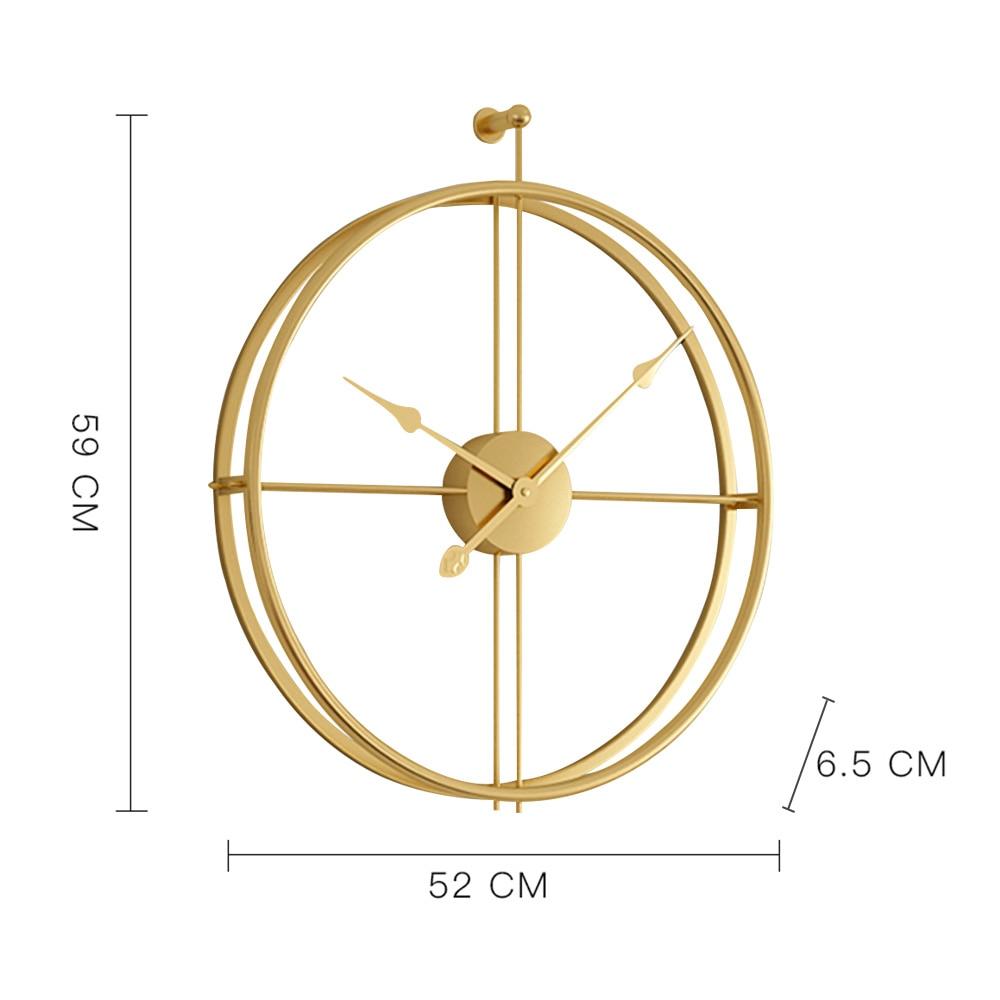 Fer 3D horloge murale Vintage Design mur rond nordique forgé créatif rétro Simple étude artisanat suspendu montre bureau chambre décor - 6