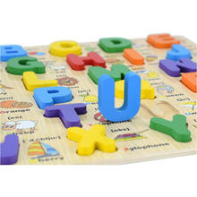 Здесь можно купить   Free shipping Kids Wooden Cartoon English Letter Puzzle toy, Baby Language Learning toy Froebel/montessori teaching AIDS toys Models & Building Toy
