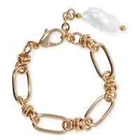 Латунные звенья цепи массивный браслет женские pulseras hombre pulseira feminina жемчужные браслеты для женщин erkek bileklik bijoux