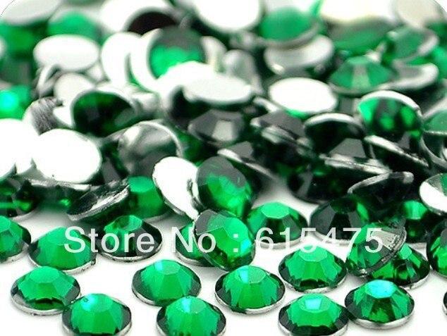 3mm Emerald Color SS10 crystal Resin rhinestones flatback,Nail Art Rhinestones,100,000pcs/bag emerald