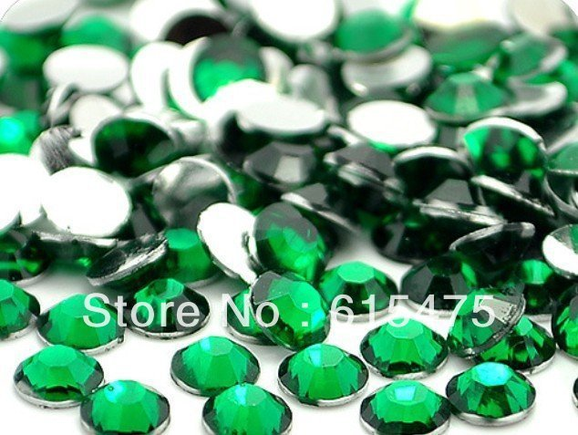3mm Esmeralda Cor SS10 strass Resina cristal flatback, Nail Art Pedrinhas, 100,000 pçs/saco