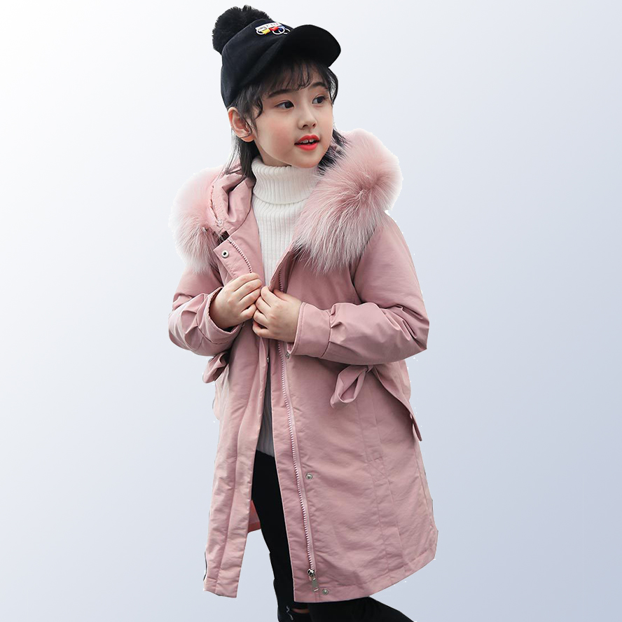 Children Winter Jacket for Girls Toddler Winter Kids Jackets and Coats Kids Long Parka Girl Clothing Age 6 8 10 12 14 Year стоимость