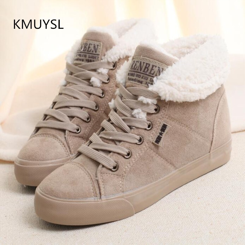 цена на New 2016 fashion fur female warm ankle boots women boots snow boots and autumn winter women shoes
