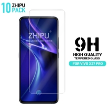 10 Pcs Tempered Glass For Vivo X27 Pro Screen Protector 2.5D 9H 6.7 Protective Film