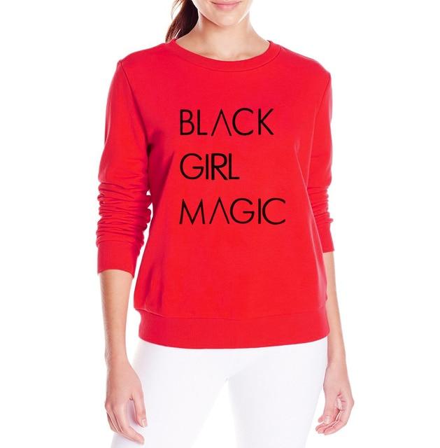 9da940564 Long Sleeve Pullovers Female Casual Tracksuits Women BLACK GIRL MAGIC  Hoodies 2017 Hip Hop Sweatshirts Harajuku