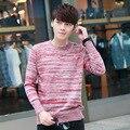 2016 Nueva Marca de Moda de Otoño Suéter Hombres Suéter Ocasional Del O-cuello Slim Fit Ropa Pullovers de Punto Suéteres de los Hombres Ocasionales prendas de Vestir Exteriores