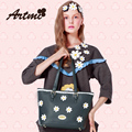 ARTMI Original Designer Brands New Fashion Women Bags 2017 Little Daisy High Quality PU Handbags Tote Solid Flower Shoulder Bag
