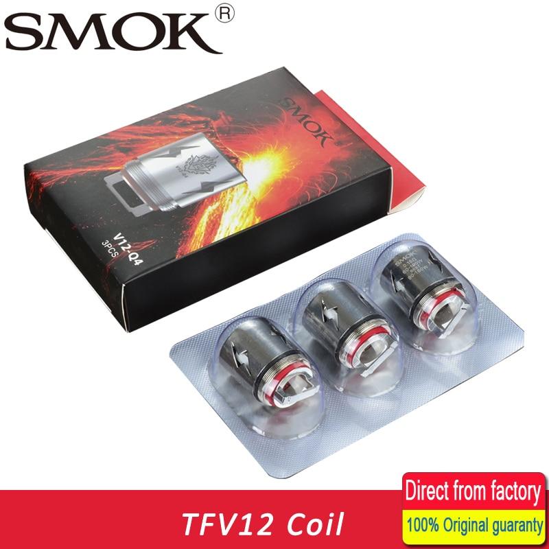 for TFV12 tank T6 T8 T12 Coils X4 3pcs Original SMOK V12  Q4