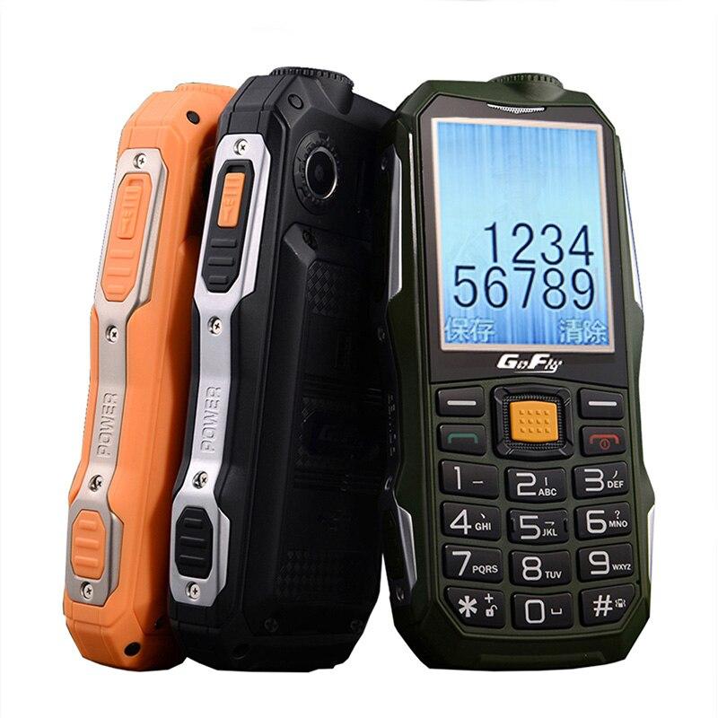 Gofly F7000 a prueba de golpes resistente al aire libre superior del teléfono móvil sonido fuerte linterna FM tiempo de espera de Banco de potencia Bluetooth SOS Speed Dial