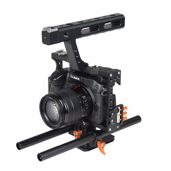 Aluminum Alloy Film Movie Making Camera Video Cage with 15mm Rod System Rig for Sony A7 Camera A7II/A7s/A7r/A7Rii Panasonic GH4