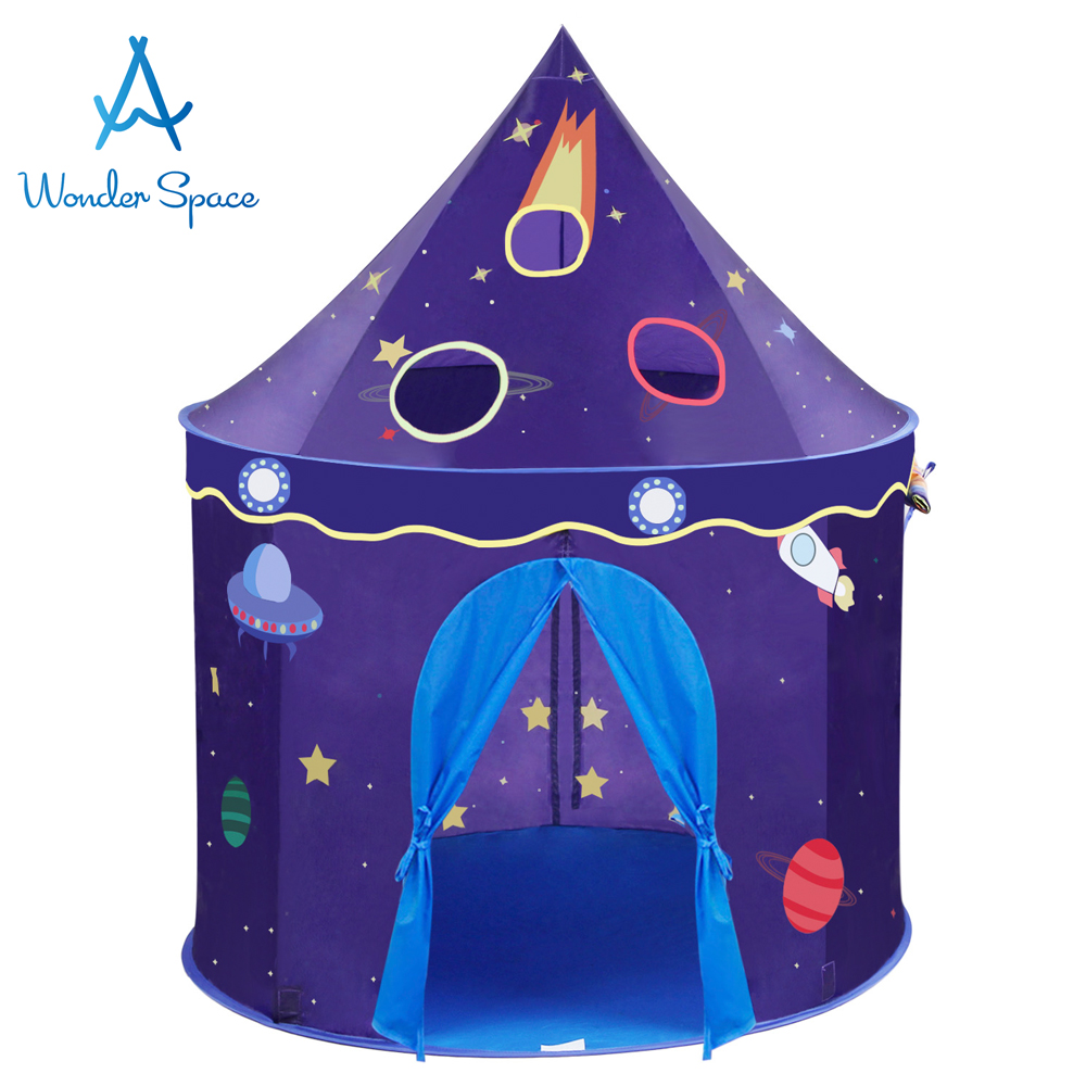 Children Play Tent Space Rocket Castle Kids Foldable Pop Up Playhouse Best Indoor Outdoor House Toy