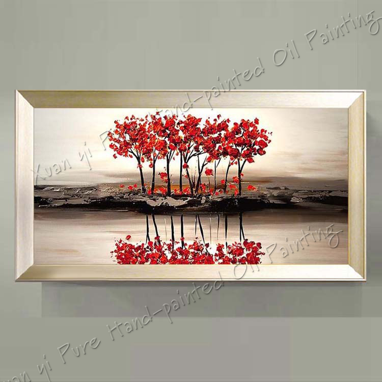 Gifts Landscape Oil Painting Palette font b Knife b font Textured Oil Painting Hand Paint Modern