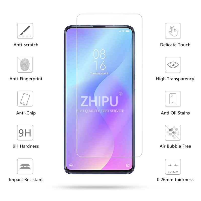 "Image 2 - 2 Pcs Tempered Glass For Xiaomi Mi 9T Screen Protector 2.5D 9H Tempered Glass For Xiaomi Mi 9T Pro Mi9T Protective Film 6.39""-in Phone Screen Protectors from Cellphones & Telecommunications"