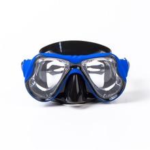 2017 Högkvalitativ silikon Svampmaskglasögon Myopi Dykmask Prescription lens Professionellt härdat glas Scuba Mask