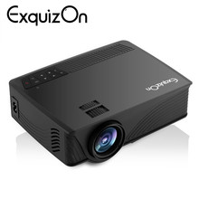 Exquizon GP12 Updated EHD09 Mini Projector 1800Lumen 800*480 Max 1080P Multimedia Support HDMI/USB/SD/AV/AUX Vieo Beamer