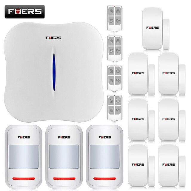 2016 New  W1 WIFI Home Burglar Security Alarm System PSTN Intelligent Alarm Android IOS APP Control Voice Prompt Alarm Kit
