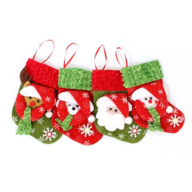 Buy christmas stocking christmas hanging for Home decor reindeer christmas figurine set