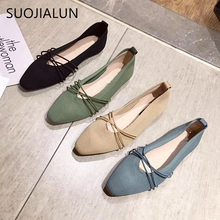 2018 new women leather shoes woman single shoes shallow round tow spring autumn ballet flats shoes women casual shoes SUOJIALUN 2019 New Autumn Women Flat Shoes Round Toe Slip on Ballet Flat Shoes Shallow Boat Shoes Casual Single Shoes Ballerin