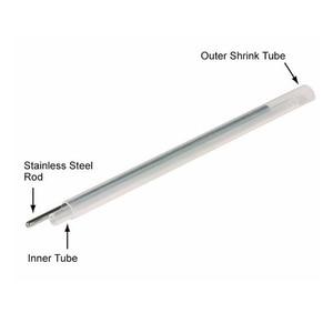 Image 2 - 2500 pcs od 2.4mm 45mm 베어 광섬유 융합 보호 스플 라이스 슬리브, 열 수축 튜브 광섬유 핫멜트 튜브