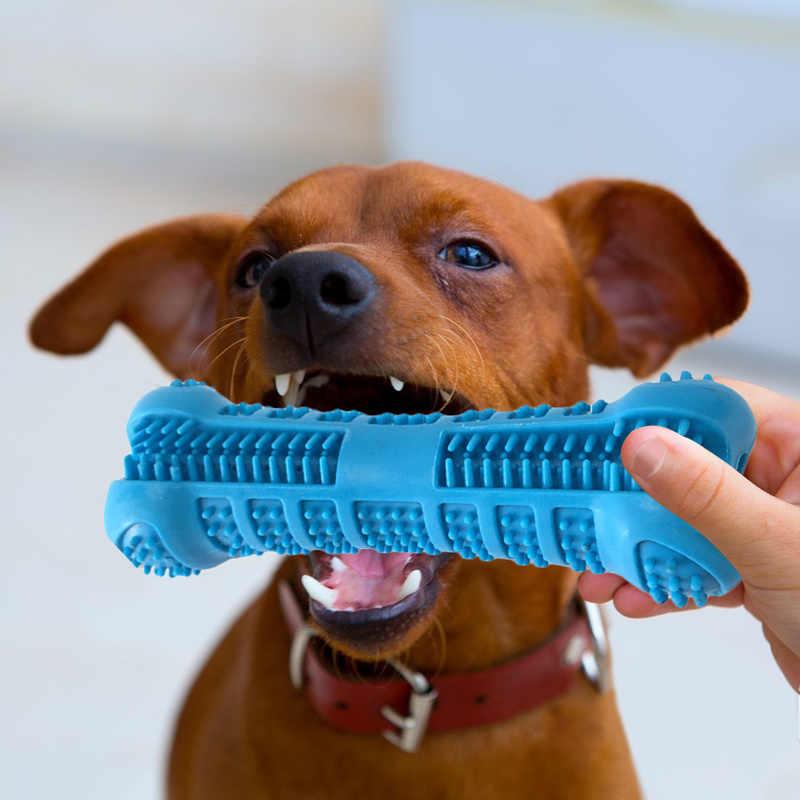 Escova de dentes para animais de estimação silicone mastigar brinquedo teddy dentes limpeza pequeno cão forma osso vara perfeito cão limpeza boca cuidados com os dentes produtos