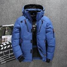Kalın sıcak kış ceket erkek kapüşonlu rahat açık erkek aşağı ceket Parka moda rüzgarlık erkek palto