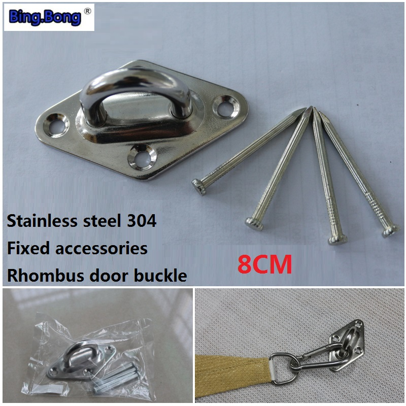 Awning Shade Sail Dedicated Accessories Stainless Steel 304 M6 Fixed Rhombus Door Buckle Diamond Latch Holder