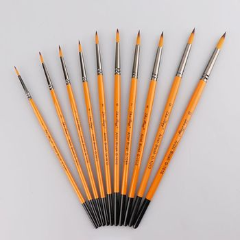 Fine Hand Painted Thin Pen Art Supplies Drawing Point Tip Watercolor Nylon Brush Acrylic Oil Painting Craft 15pcs artist stationery professional fine hand painted hook line pen round tip watercolor drawing painting brush art supplies
