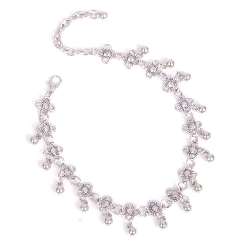 LNRRABC  Summer Women    Flower Beads Tassel Tibetan Beach Anklet Bracelet Gift Fashion Jewelry tornozeleira feminina