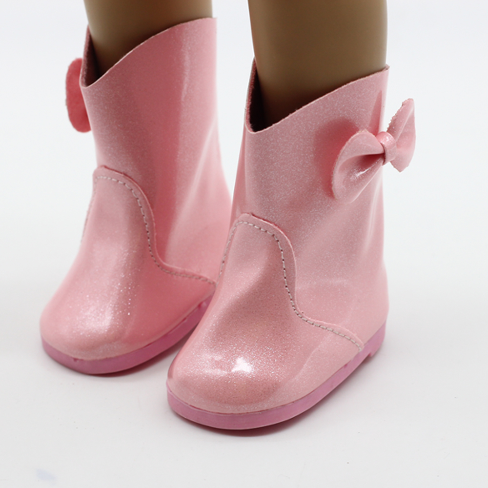 New style pink Doll Shoes Fits for 18'' American Girl Doll Clothes Boots Shoes Doll Accessories the gift for children