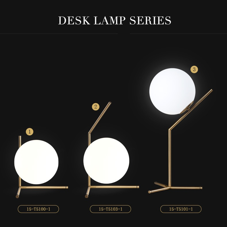 Modern LED Table Lamp Desk Lamp Light Shade Glass Ball Table Lamp Desk Light for Bedroom Living Room Floor Conner Gold Designs (23)