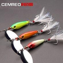 Cemreo рыболовная приманка Спиннер-приманка 8,5 г 16,5 г зеленый цвет жесткий приманка с крючком и перо для Пресноводная Рыбалка