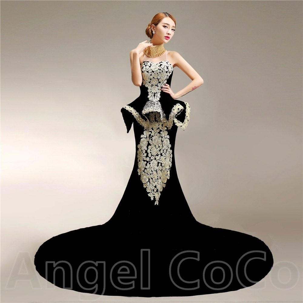 Luxury Evening Dress robe de soiree Custom Made Real ...