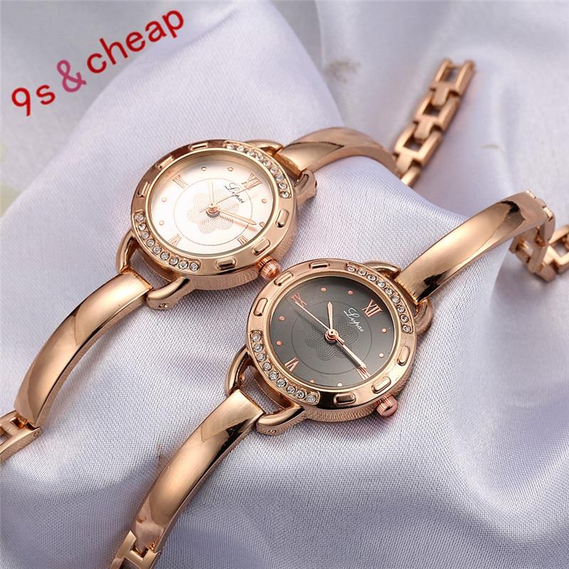 Fashion Ladies Women Stainless Steel Rhinestone Quartz Wrist Watch 3339 Brand New High Quality Luxury Free