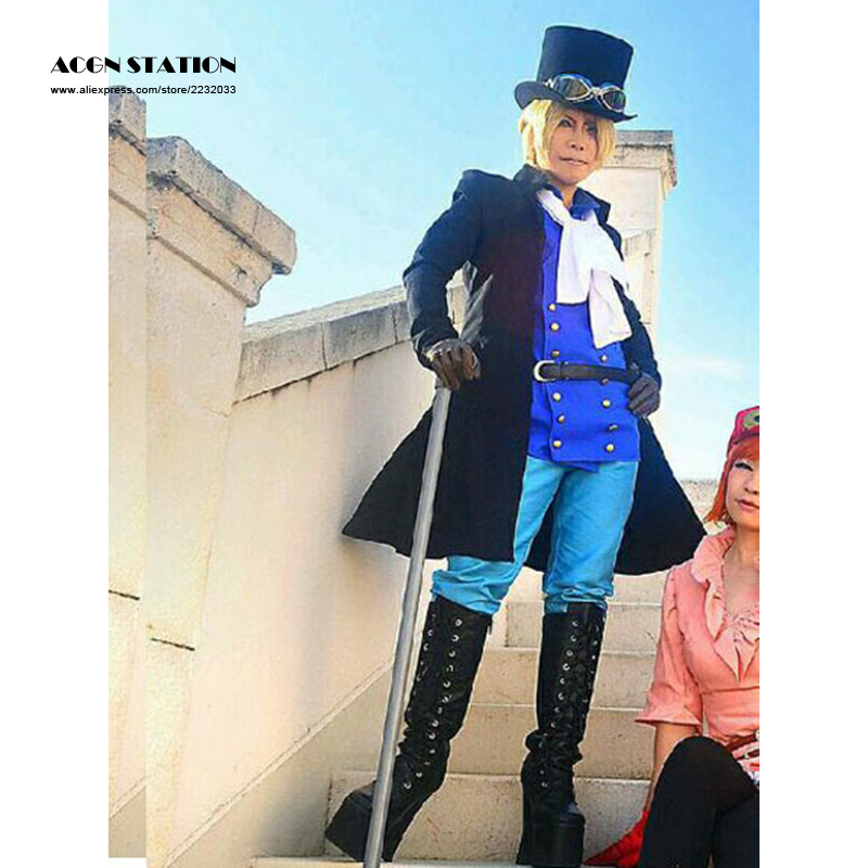 Customize for adults and kids Free Shipping One Piece Sabo Halloween Cosplay Costume Sabo 12 Years Later Cosplay Costume