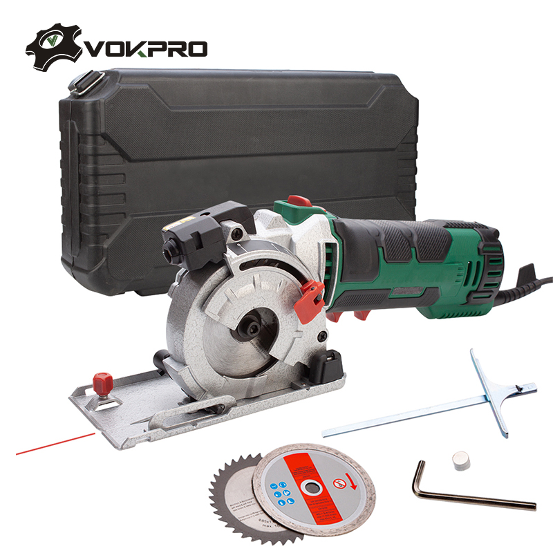 220v Mini Laser Circular Saw Tile Cutter Power Tools With 3 Blades