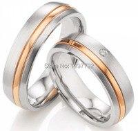 2014 Последняя новая модель Роза цвет золотистый titanium украшения обручальные кольца комплекты конструкции