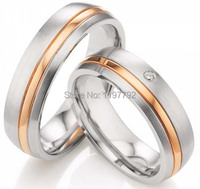 2014 latest new model rose gold color titanium jewelry engagement wedding ring sets designs