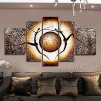 5 Panel Canvas Art Hand Painted Abstract Dancer Oil Painting Cuadros Decorativos Wall Pictures For Living Room Unframed XY047