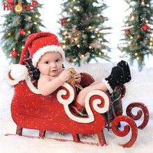 Рождественский костюм для новорожденных, вязаный крючком реквизит для фотосессии, ручной работы, для малышей, Санта-Клаус, эльф, шляпа, шорты, костюм, подарок для ребенка