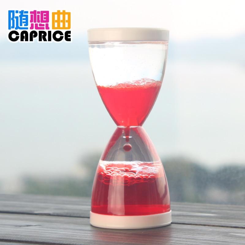 Capriccio mini oil Home Furnishing desktop decoration hourglass creative gift liquid water leaking oil plastic bubble time