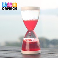 Capriccio mini oil Home Furnishing desktop decoration hourglass creative gift liquid water leaking oil plastic bubble time