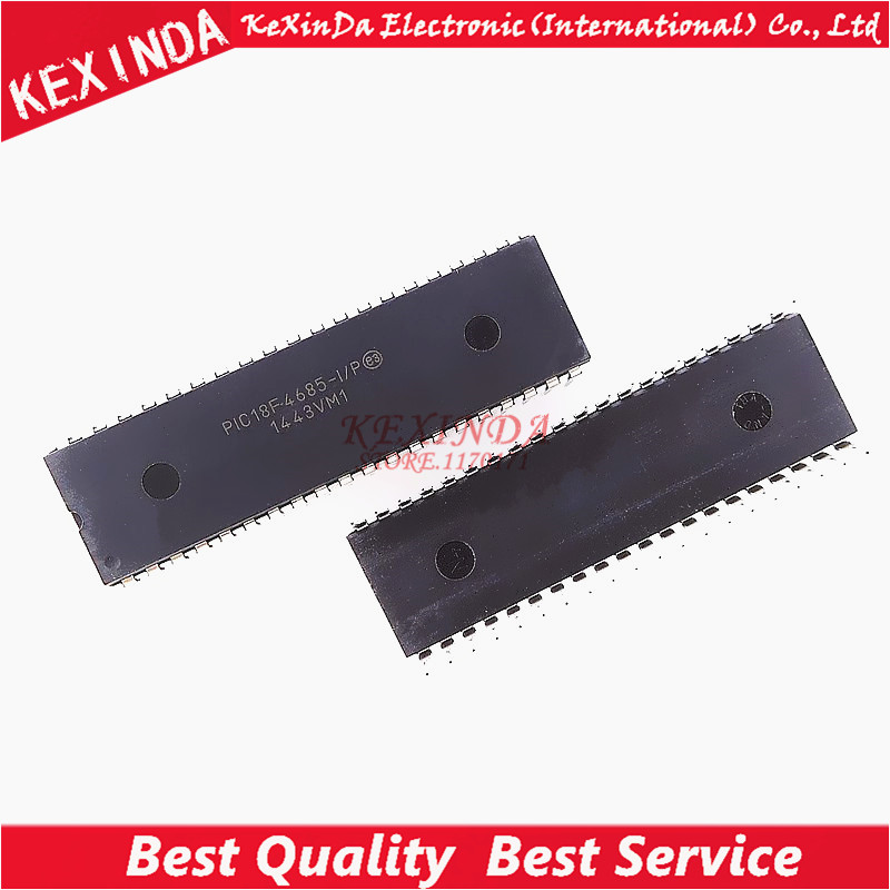 PIC18F4685 I P PIC18F4685 DIP 40 IC 5pcs lot Free shipping