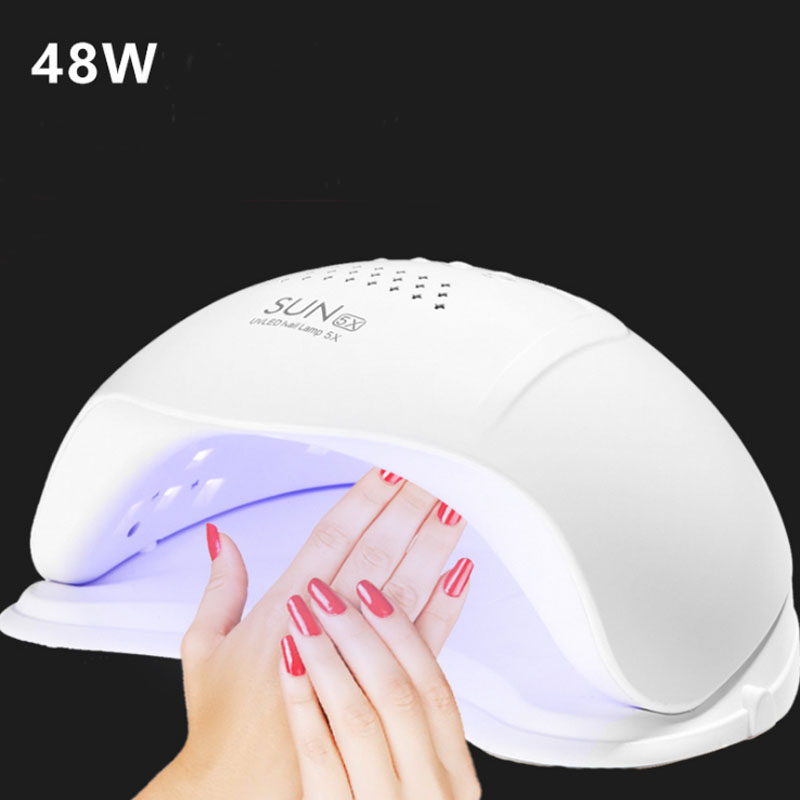 48W SUN5X LED UV Lamp Nail Dryer led Nail Lamp Double light Auto Sensor Nail Lamp Machine for Curing UV Gel Nail Polish