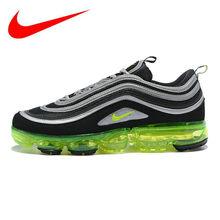 0c28f354 Nike Air Vapormax '97 Япония Мужские кроссовки, амортизирующие дышащие  нескользящие легкие, зеленый и черный AJ7291 001