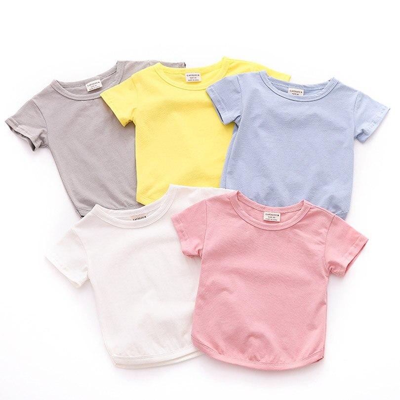2019 Neue Bobo Choses Kinder Sommer T Shirt Kleinkind Kind Jungen Und Mädchen Kurzarm T-shirt Solide Baumwolle Qualität Tees Tops 1-5y Ausgereifte Technologien
