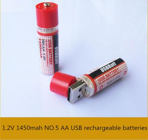 NEW DPB-1450mAh battery 1.2V 1450mah Ni-MH NO.5 AA USB rechargeable batteries