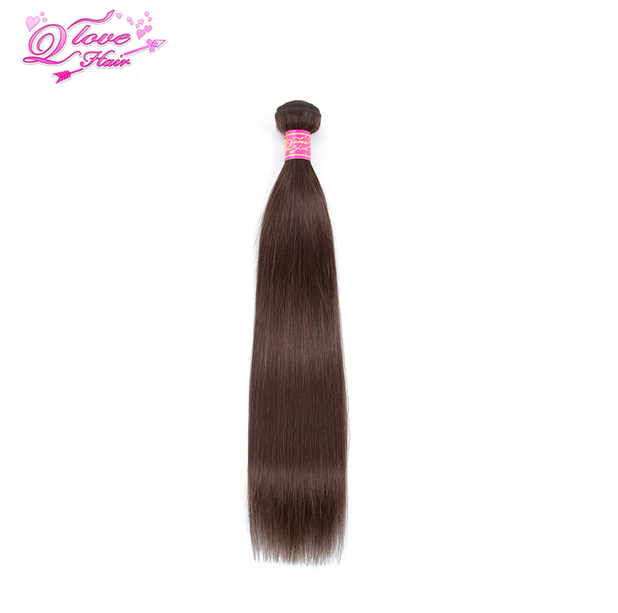 Queen Love Hair Pre-colored Malaysia Straight Hair Human Hair 3 Bundles With Closure #4 Color Non Remy Hair Extension
