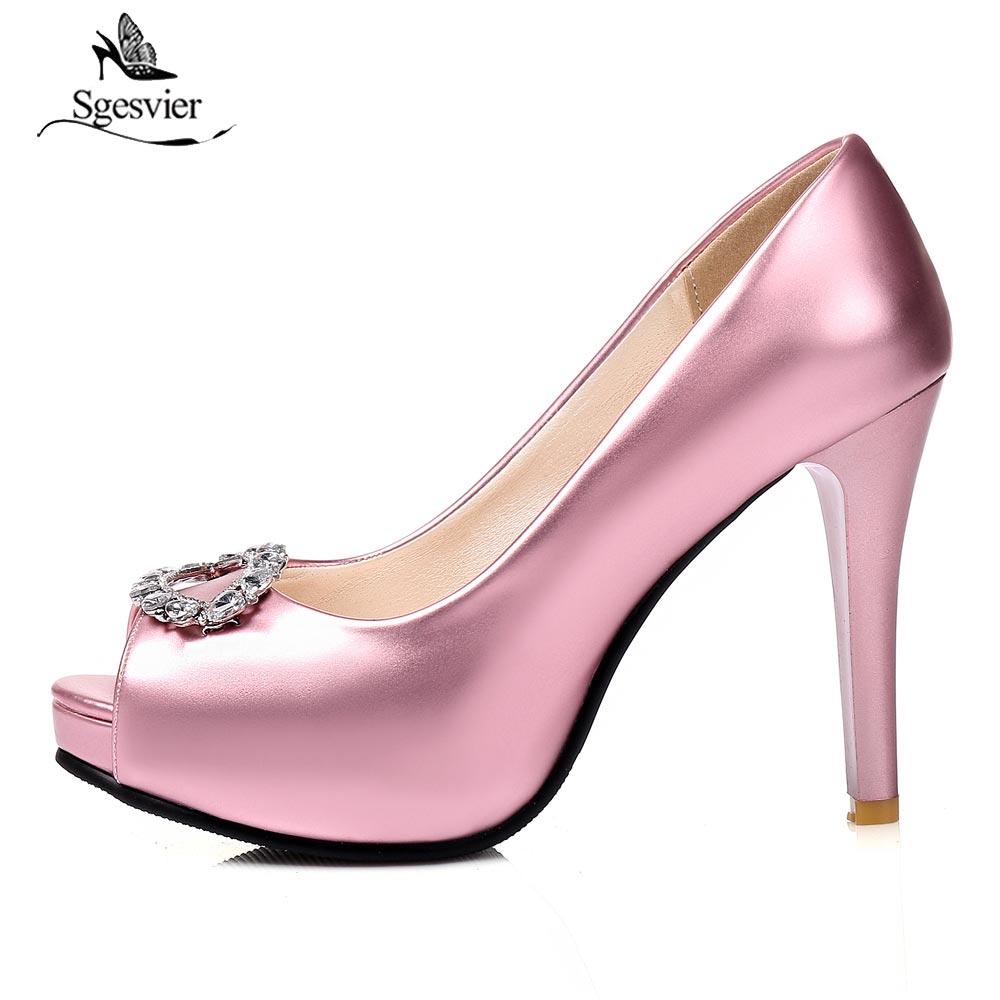 d9ba7953f6967 Robe Chaussures Sgesvier Mince Dames Les Stiletto B272 Sur De Parti Haute Talons  Femmes rose Femme ...