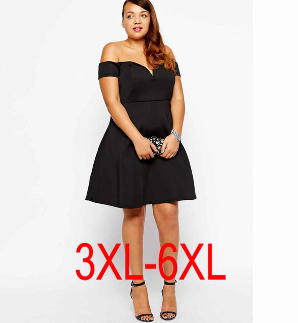 Plus Size 4xl 5xl Sexy Women Dress Fat Ladies Evening Party Mini